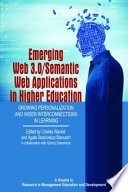 Emerging Web 3 0 Semantic Web Applications in Higher Education