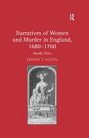 Narratives of Women and Murder in England, 1680–1760 Pdf/ePub eBook
