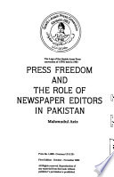 Press Freedom and the Role of Newspaper Editors in Pakistan