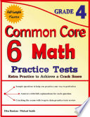 6 Common Core Math Practice Tests Grade 4