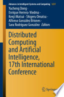 Distributed Computing And Artificial Intelligence 17th International Conference