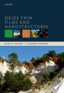 Oxide Thin Films and Nanostructures Book