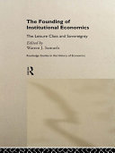 Pdf The Founding of Institutional Economics Telecharger