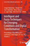Intelligent and Fuzzy Techniques for Emerging Conditions and Digital Transformation