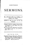 Sixteen sermons  etc