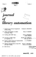 Journal Of Library Automation