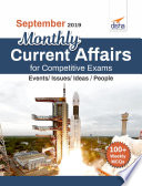 September 2019 Monthly Current Affairs With Mcqs For Competitive Exams