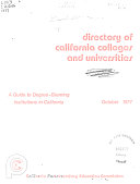 Directory of California Colleges and Universities