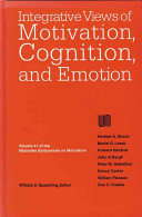 Integrative Views of Motivation  Cognition  and Emotion Book