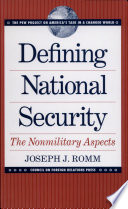 Defining National Security Book PDF