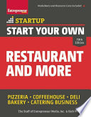 Start Your Own Restaurant and More Book PDF