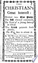 The Christian s Great Interest  Etc Book PDF