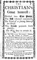 The Christian s Great Interest  Etc
