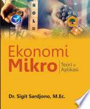 EKONOMI MIKRO - Teori dan Aplikasi