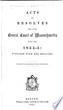 Resolves of the General Assembly of the State of Massachusetts Bay Book