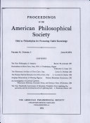 Proceedings, American Philosophical Society (vol. 96, no. 3) Pdf/ePub eBook