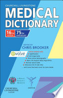"""Churchill Livingstone Medical Dictionary E-Book"" by Chris Brooker"