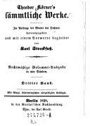 """""""Theodor Körner's"""" sämmtliche Werke"""