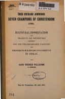Uber Richard Johnsons Seven Champions of Christendom (1596)