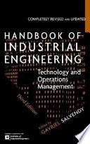 Handbook of Industrial Engineering Book