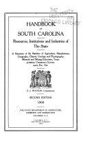 Handbook of South Carolina Book
