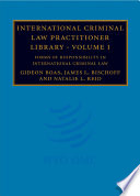 Cover of International Criminal Law Practitioner Library