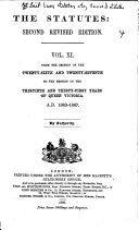 The Statutes  Second Revised Edition