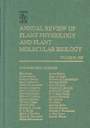 Annual Review of Plant Physiology and Plant Molecular Biology