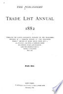 The Publishers  Trade List Annual Book