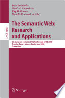 The Semantic Web Research And Applications Book PDF