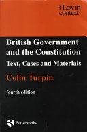 British Government and the Constitution Book