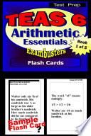 TEAS 6 Test Prep Arithmetic Review  Exambusters Flash Cards  Workbook 1 of 5