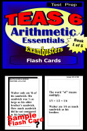 TEAS V Test Prep Arithmetic Review--Exambusters Flash Cards--Workbook 1 of 5