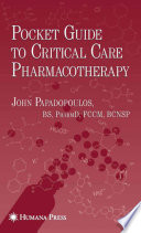Pocket Guide to Critical Care Pharmacotherapy Book