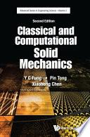 Classical and Computational Solid Mechanics Book