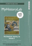 The American Journey Myhistorylab Pegasus Withpearson Etext Student Access Code Card