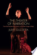Book cover for The Theater of Narration : From the Peripheries of History to the Main Stages of Italy
