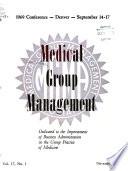 Medical Group Management