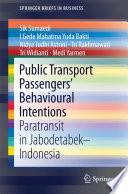 Public Transport Passengers Behavioural Intentions Book PDF