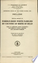 Fifteenth census of the United States: 1930. Population. Special report on foreign-born white families by country of birth of head