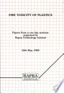 Fire Toxicity of Plastics Book