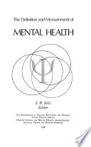 The Definition and Measurement of Mental Health Book