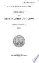 Report On The State Agricultural Experiment Stations
