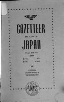 Gazetteer to Maps of Japan