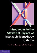 Introduction to the Statistical Physics of Integrable Many body Systems
