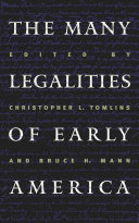 The Many Legalities of Early America Book