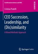 CEO Succession  Leadership  and  Dis similarity