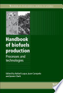 Handbook Of Biofuels Production Book PDF