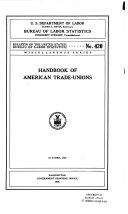 Handbook of American trade-unions