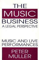 The Music Business  a Legal Perspective Book